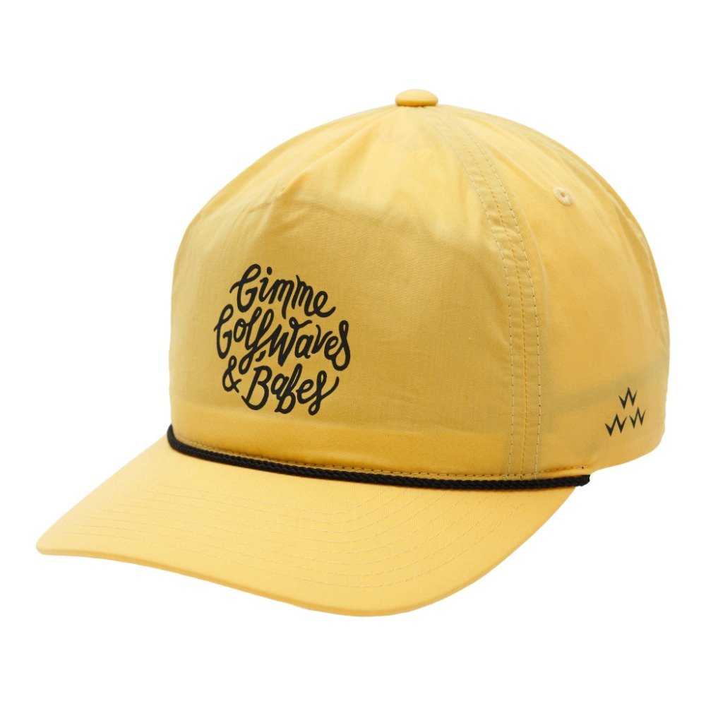 GOLF, WAVES & BABES SNAPBACK - YELLOW